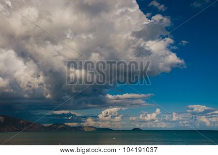 Beautiful sea and clouds sky, summer time