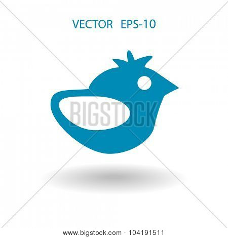 Flat icon of bird