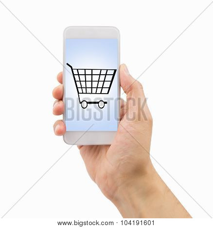 Using Smartphone To Buy In The Supermarket