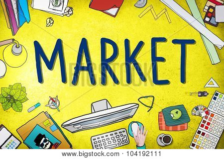 Market Consumer Product Buyer Marketing Concept