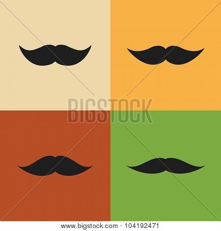 Vintage Mustache Designs. Vector.
