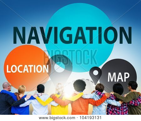 Navigation Direction Destination Travel Guide concept