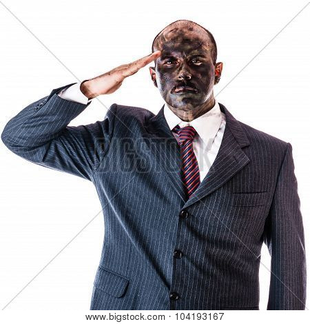 Saluting Businessman