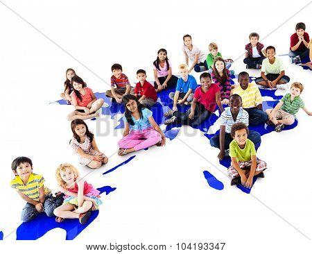 Children Kids Ethnicity Community Communication Concept