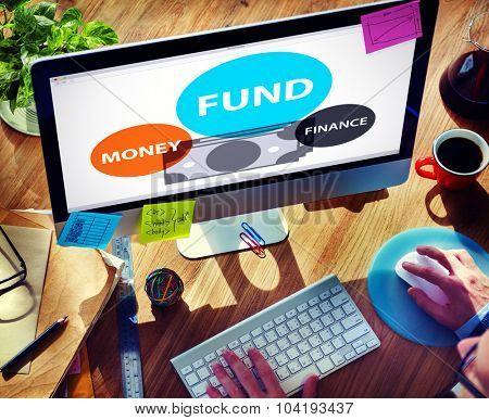 Fund Budget Business Finance Money Profit Wealth Concept