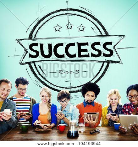 Success Mission Achievement Competition Development Concept