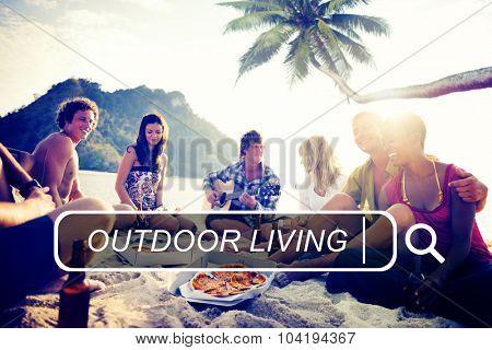 Outdoor Living Beach Enjoyment Summer Holiday Concept