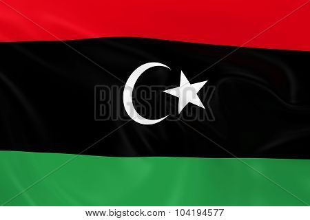 Waving Flag Of Libya - 3D Render Of The Libyan Flag With Silky Texture