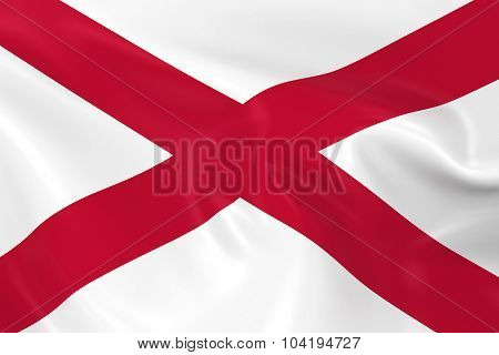 Waving Flag Of Northern Ireland - 3D Render Of The Northern Irish Flag With Silky Texture