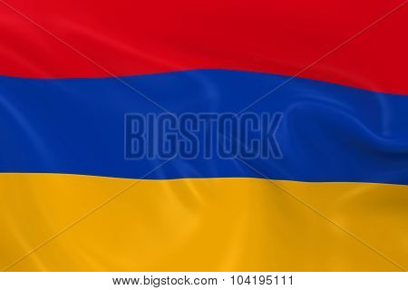Waving Flag Of Armenia - 3D Render Of The Armenian Flag With Silky Texture