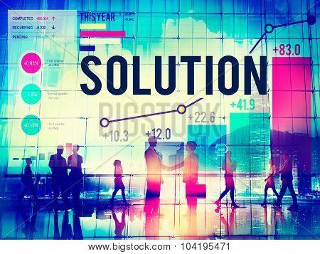 Solution Solve Strategy Success Improvement Concept