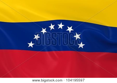 Waving Flag Of Venezuela - 3D Render Of The Venezuelan Flag With Silky Texture