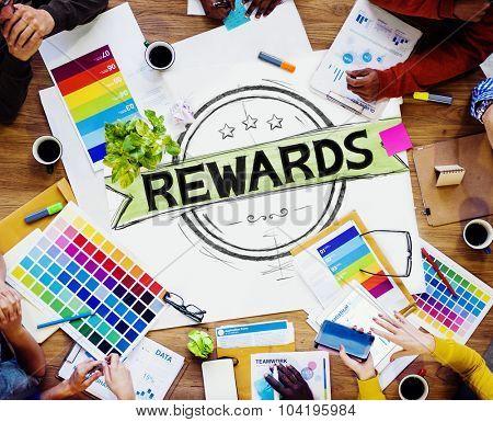 Rewards Prize Benefit Trophy Budget Concept
