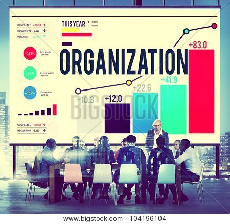Organization Management Corporate Collaboration Team Concept