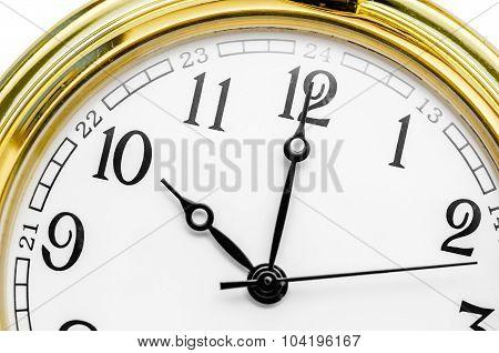 Close Up Of An Old Clock Face