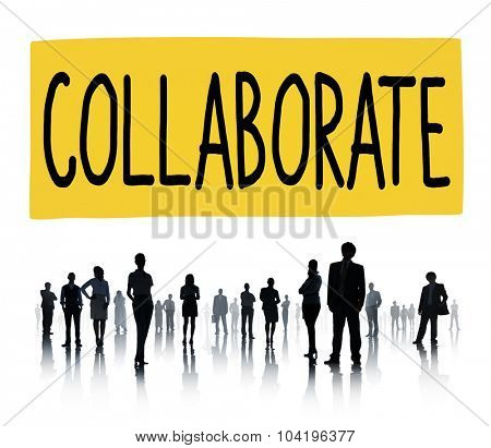 Collaborate Corporate Connection Team Support Concept