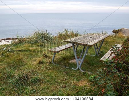 Picnic Table Made Of  Wood