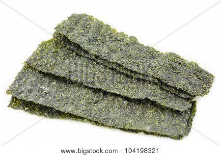 Fried Korean Style Seaweed.