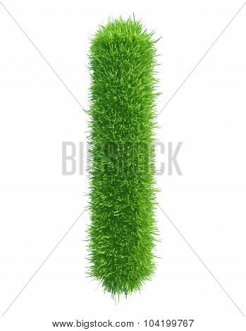 Vector small grass letter l on white background