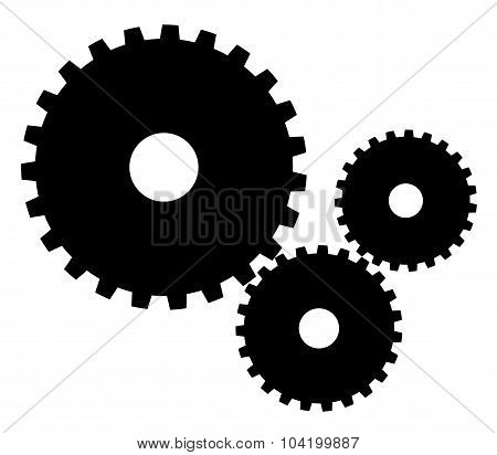 Indistrial Gears Vector Illustration