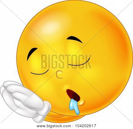 Sleeping cartoon smiley emoticon