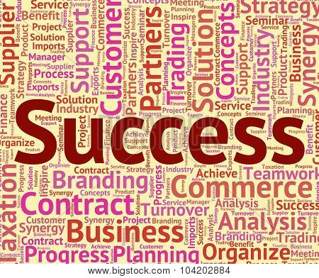 Success Word Represents Winner Resolution And Wordclouds