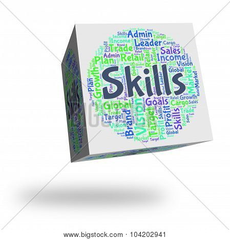 Skills Word Shows Skilled Words And Expertise