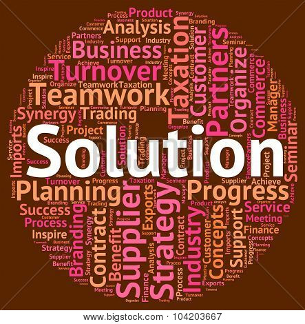 Solution Word Represents Succeed Solving And Successful