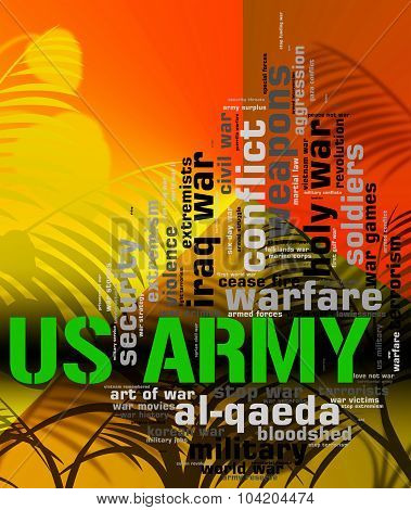 Us Army Shows The United States And Armed