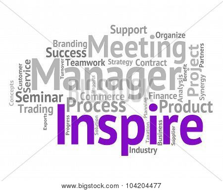 Inspire Word Means Fire Up And Encourage