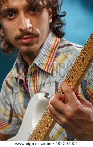 Guitarist Playing An Electric Guitar