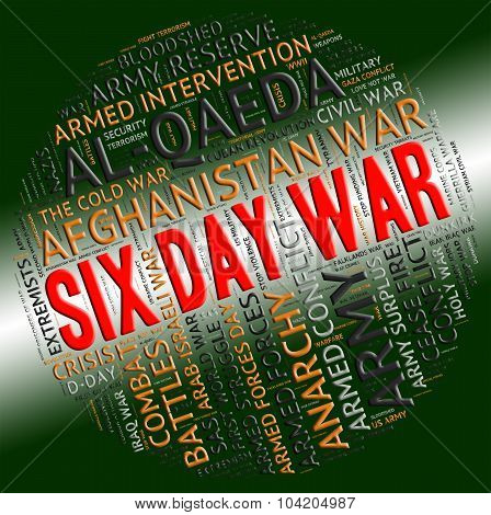 Six Day War Represents United Arab Republic And Israel