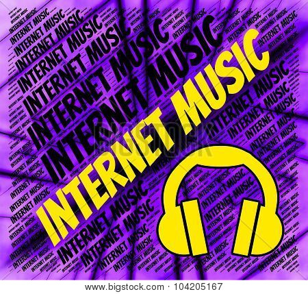 Internet Music Shows World Wide Web And Harmonies