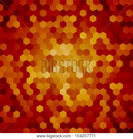 Brown Hexagon Background Snakeskin