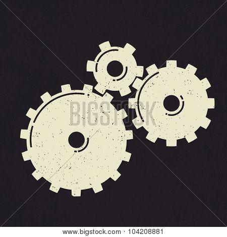 Grunge styled gears.