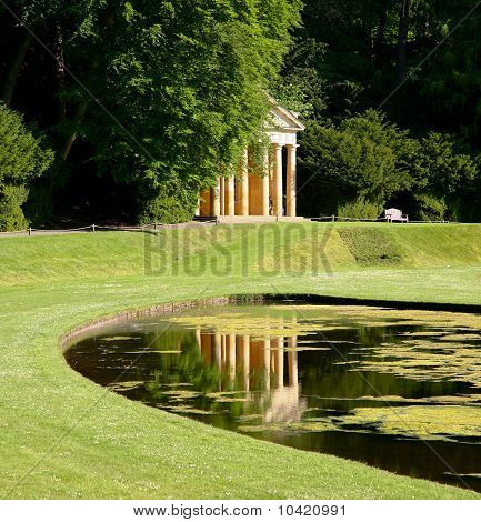 Reflection in a Garden Lake