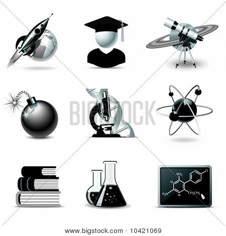 Science icons | B&W series