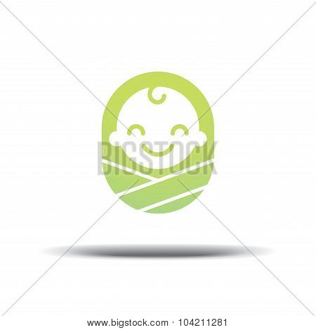 Logo Design Baby, Cheerful Joyful Kid