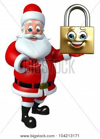 Santa Claus With Lock