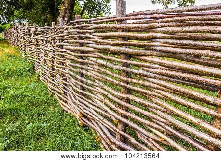 Rural Wicker Fence