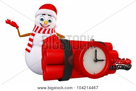 Snowman With Timebomb