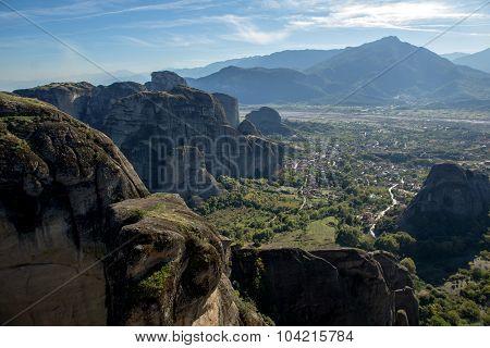Meteora Monasteries Landscape, Greece