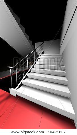 3d Render Stairway