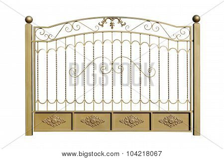 Decorative Fence Of Steel.