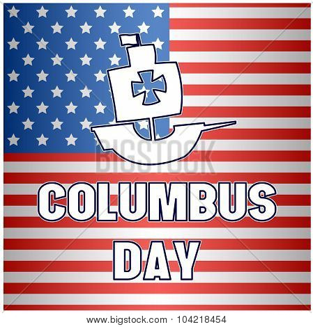 Happy Columbus Day flag background
