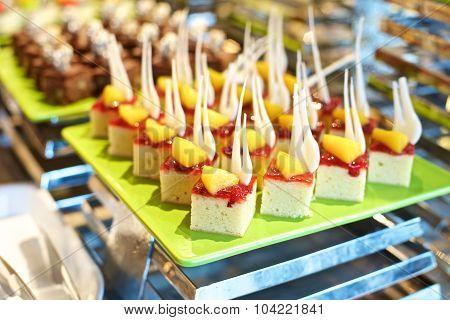 Sweet Dessert In A Buffet