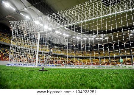 Sport Microphone On Soccer Field