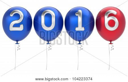 2016 New Years Eve Party Balloons Xmas Decoration Blue Red