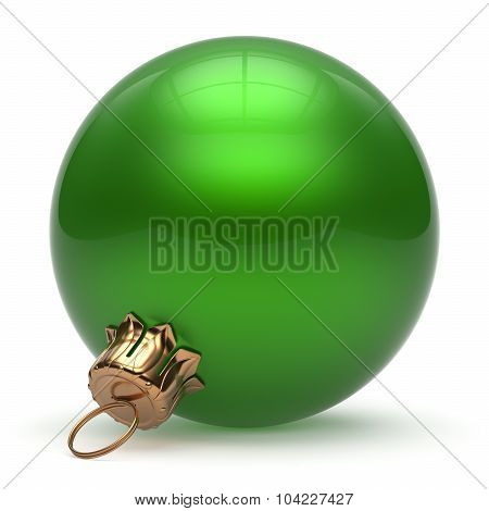 Christmas Ball New Year's Eve Bauble Decoration Green Round