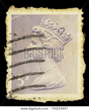 Postage Stamp Printed In United Kingdom Showing A Portrait Of Queen Elizabeth Ii